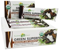 Green Superfood Energy Bar Chocolate Chip Coconut 21 oz 1 Bar * Check out this great product.