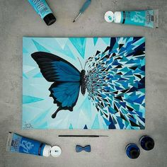 30 ideas canvas art painting abstract colour for 2019 Cute Canvas Paintings, Small Canvas Art, Easy Canvas Painting, Diy Canvas Art, Painting Art, Painting Tools, Hippie Painting, Painting Quotes, Blue Painting