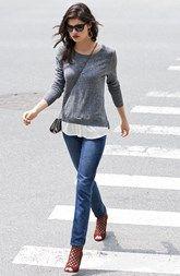 Kensie Sweater & Paige Denim Jeans