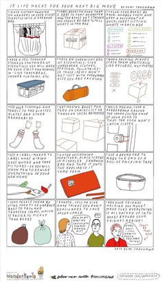 An interesting list of moving tips from thesecretyumiverse.wonderhowto.com  #movingtips #packingtips