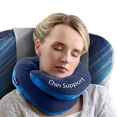 BCOZZY Chin Supporting Travel Pillow - Supports the Head,...