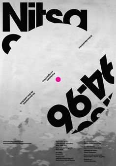 Nitsa 94/96: El Giro Electrónico - poster with typographic twists | typography / graphic design: Mucho - Pablo Juncadella |