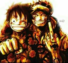 Trafalgar D Water Law & Monkey.D Luffy