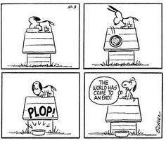 Snoopy drops his dinner. Peanuts Cartoon, Peanuts Snoopy, Peanuts Comics, Snoopy Love, Snoopy And Woodstock, Charles Shultz, Snoopy Comics, Snoopy Pictures, Cartoon Characters