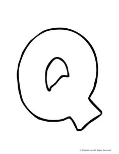Bubble Letter Q