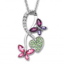 Halskette Schmetterlingstraum mit bunten Swarovski® Kristallen