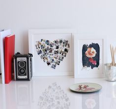 Personalizable collage photo art perfect for a Mother's Day Gift - Heart Snap Shot Mix by Minted.
