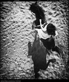 Mujer y caballo - foto