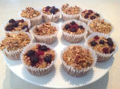 Clean eating, Oatmeal muffins, berry and walnut
