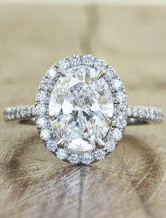 Oval  - unique - engagement rings by Ken and Dana Design--like everything but diamonds on the band