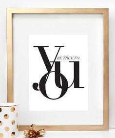 Look at this #zulilyfind! 'True to You' Print by Charm & Gumption #zulilyfinds