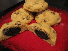 Cookies and Cream Chocolate Chip Cookies - Easy Culinary Concepts A Food, Good Food, Can Of Soup, Easy Chocolate Chip Cookies, Healthy Food, Healthy Recipes, Soften Cream Cheese, Cream Of Chicken Soup, Perfect Image