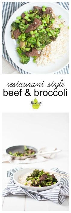 restaurant style beef and broccoli | easy, healthy, and better than your favorite restaurant beef & broccoli |  www.nourishnutritionblog.com via @nourishnutrico