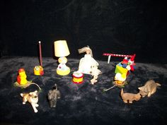 Vintage Dollhouse Accessories Kids Toys & Pets 15 Pieces Bride Doll Lamp Shelf