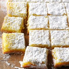 Almond-Coconut Lemon Bars Recipe -Our home economists give traditional lemon bars a tasty twist with the addition of almonds and coconut.—Taste of Home Test Kitchen Top 10 Desserts, Lemon Desserts, Lemon Recipes, Lemon Coconut Bars, Lemon Bars, Coconut Pecan, Potluck Recipes, Dessert Recipes, Bar Recipes