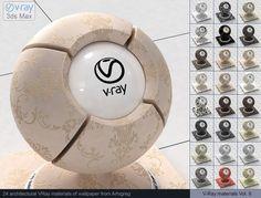 Vray Wallpaper Materials 3D Модель .max .c4d .obj .3ds .fbx .lwo .stl @3DExport.com by ARHIGREGDESIGN