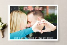 Understated Save the Date Cards