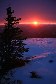A sublimely beautiful winter sunset captured near MacLeod Park, British Columbia.