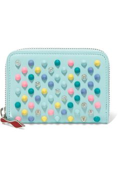 CHRISTIAN LOUBOUTIN Panettone spiked leather wallet. #christianlouboutin #portemonnaies