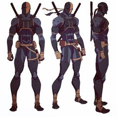 Deathstroke model sheet from Som of Batman, I posted a portion of this model sheet a while back. Character Model Sheet, Character Modeling, Character Drawing, Comic Character, Character Concept, Superhero Characters, Dc Comics Characters, Dc Comics Art, Dc Deathstroke