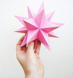 "Christmas craft ""Stellated dodecahedrons"" by Mini-eco  http://www.husohem.se/New-Bloggar/Alla-bloggar/Inredning/Hello-Kiddo/Inlagg/?BlogEntry=28192"