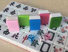 Chinese version of Mah Jong Tiles in pastel colors.