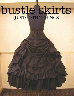Ideas for bustles & skirts for Steampunk costumes