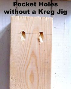 How to make pocket holes without a Kreg Jig.