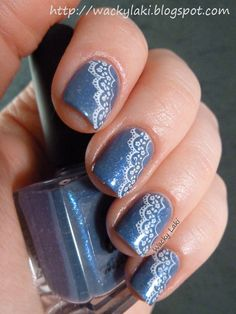 Today I went with something simple and classic... denim and lace. Denim is a lovely piCture pOlishlacquer. It is really one of those polish...