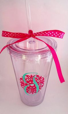 Acrylic Tumbler, personalized double wall tumbler, Acrylic cup, monogram, custom bridesmaid gift teacher appreciation weddings clubs  Check out this item in my Etsy shop https://www.etsy.com/listing/235873906/acrylic-tumbler-personalized-double-wall