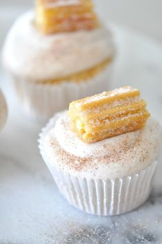 churro cupcake recipe for day of the dead party by kara's party ideas