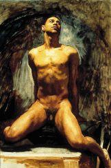 "vintagegayromance: "" John Singer Sargent - ^ This nude study of Thomas E. McKeller, ca. wasn't exhibited during Sargent's lifetime. "" 'Nude Study of Thomas McKeller by John Singer Sargent is considered one of the most fascinating. John Singer Sargent, Sargent Art, Beaux Arts Paris, Digital Museum, Inspirational Artwork, Inspiring Art, Male Figure, Gay Art, Museum Of Fine Arts"