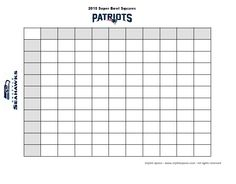 2017 Super Bowl Football Betting Squares Free Printable From Stylish Spoon