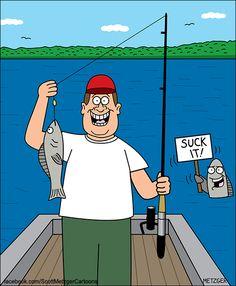 500 Fishing Cartoons Images In 2020 Fishing Humor Funny Fishing Jokes