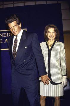 JFK jr & his mother