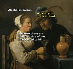 66 Times People Put Some Humor Into Classic Art - Funny Gallery Renaissance Memes, Medieval Memes, Memes Humor, Funny Memes, Hilarious, Funny Drunk, Art History Memes, Classical Art Memes, Art Jokes