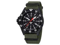 KHS Herrenuhr Shooter mit Natoband Oliv SH.NO - 229.00 - 5.0 von 5 Sternen - Herren Uhren 2019 Countdown Timer, Nato Strap, O Ring, Casio Watch, Pointers, Carbon Fiber, Quartz, Watches, Band