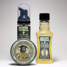 Let' start this wonderful marvel of the world called Friday with some more #reuzel #products Read the news at pomade.com #mrpomade #beard #beardbalm #foam #aftershave