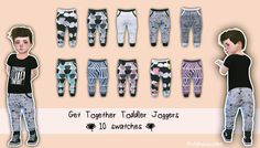 Sims 4 CC's - The Best: TODDLER JOGGERS by My Fabulous Sims