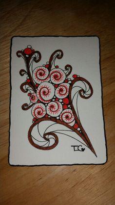 Zentangle ATC Bouquet