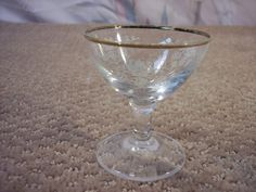 Cordial Glass gold rimmed with grape clusters and vines by ECCENTRICRON on Etsy