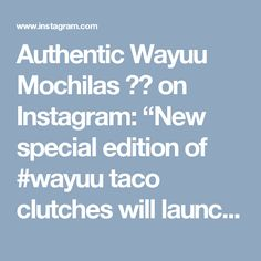 """Authentic Wayuu Mochilas 🇨🇴 on Instagram: """"New special edition of #wayuu taco clutches will launch on my website this weekend? Have you ever seen anything so…"""""""