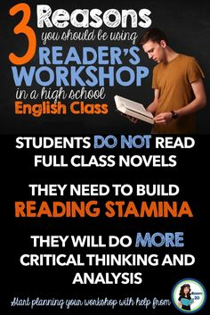 Reader's workshop is the perfect way to help get students engaged in reading and thinking.