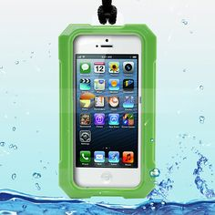 Novel Ipega Superb Real Waterproof Case Cover for iPhone 5 - Green   $12.26