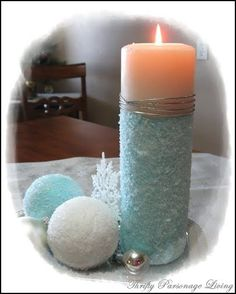 Thrifty Parsonage Living: DIY Epsom Salt Ornaments and Candle. So doing this Friday. Christmas Balls, Winter Christmas, Christmas Ornaments, Christmas Ideas, Christmas Candle, Holiday Ideas, Christmas Time, Merry Christmas, Homemade Christmas Decorations