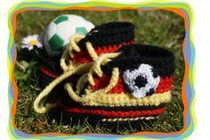 ♥ Baby- Schuhe Turnschuhe Fußball Deutschland ♥  von Sternen - Welt auf DaWanda.com