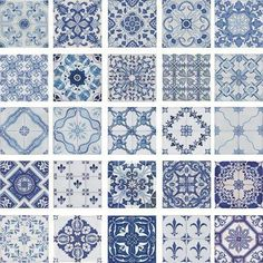 Blue and White Portuguese tiles.