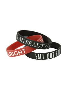 Tendance Bracelet 2018 Description Fall Out Boy Songs Rubber Bracelet 3 Pack Rubber Bracelets, Bangle Bracelets, Bangles, Band Merch, Band Tees, Fall Out Boy Songs, Vogue, Guys And Girls, Hot Topic