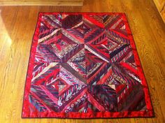 Just finished this necktie quilt for my friend, Mary. by nkiblueeyes, via Flickr