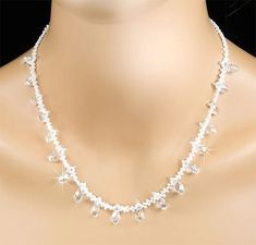 Crystal Bridal Necklace Swarovski Crystal by PixieDustFineries, $125.00